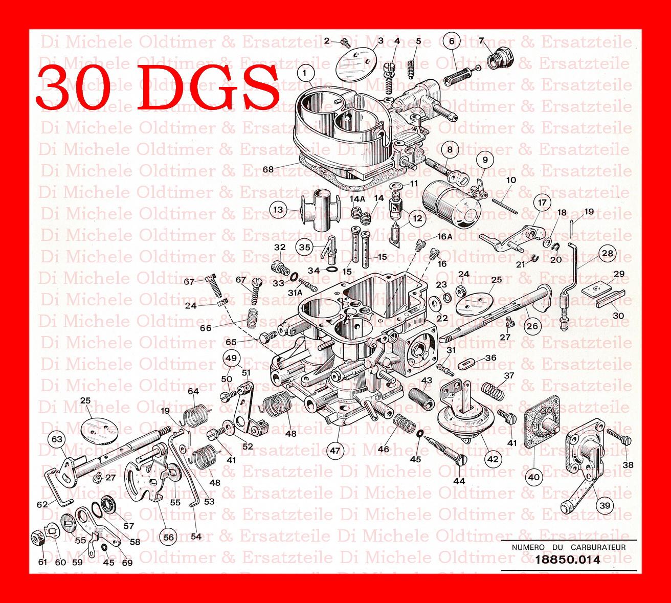 30 DGF...Weber Vergaser Beschleuniger Membrane