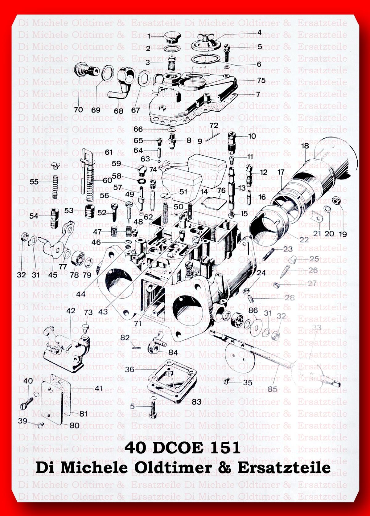 Schwimmernadelventil 1,50 Weber-Vergaser,DCOE,DCOM